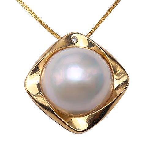 JYX Halskette mit Anhänger, 18 K, 15 mm, Weiß