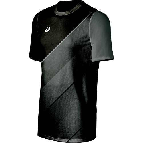 ASICS Mens Tm Matchplay jersey, Steel Grey/black, Medium