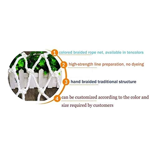 Nfudishpu Filet Protection Chats Balcon Réseau Filet en Nylon Blanc, Filet sécurité Enfants Réseau d'escaliers Filet sécurité Multifonction protéger Les Plantes Vertes dans Les Jardins