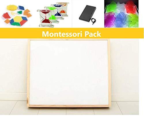Pack caja de luz Montessori RGBW 30x40cm + materiales