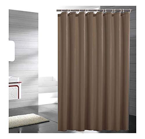 MaxAst Duschvorhang Anti Schimmel Duschvorhang Einfach Duschvorhang Polyester Dunkelbraun Bad Vorhang 150x200
