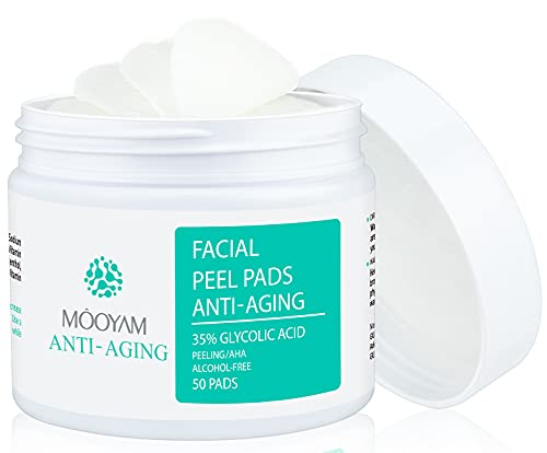 Glycolic Acid Pads 35% AHA Resurfacing Peel Pads with Vitamins B5, C &...