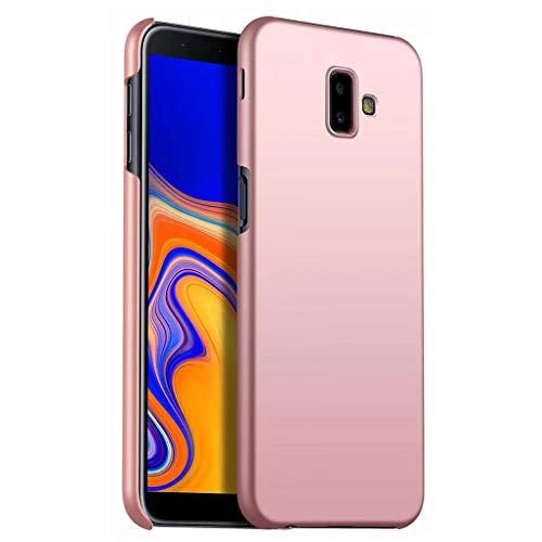 NiaCoCo Kompatibel mit Samsung Galaxy J6 Plus Hülle Harter PC Silikon stoßfest Ultra dünn Anti Scratch Handy Schutzhülle zum Samsung Galaxy J6 Plus Handyhülle-Rosegold