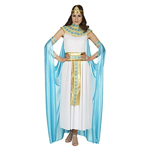 Andrea-Moden Damen Cleopatra Kleid für besondere Anlässe, weiß-türkis, 36/38