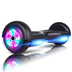 EASY TO USE & STABLE CONTROL: The Hoverboard specially designed for the beginners & amateurs, easy to learn and maintain balance. It can go straight, make a turn and rotate for 360 degrees locally, and is operated at will! Powerful 200W brushless mot...