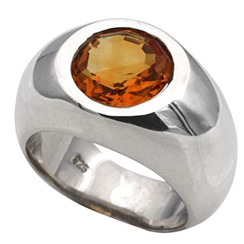 Silberring mit Citrinen hochwertige Goldschmiedearbeit aus Deutschland (Sterling Silber 925) Goldtopas Ring Damenring mit Expertise