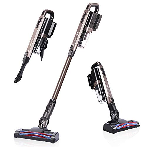 Cordless Vacuum Cleaner, Stick Vacuum Cleaner, 18Kpa Powerful Suction Lightweight Handheld Stick Vacuum Cleaner Brushless Motor for Pet Hair Home Hard Floor Carpet Car Cleaning (1 Battery Included)