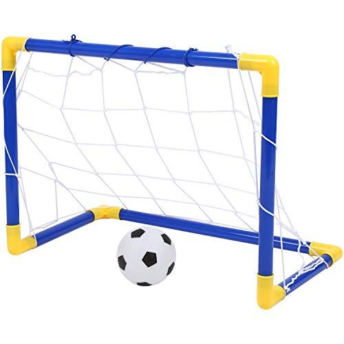 Youmine Indoor Pieghevole Calcio Pallone da Calcio Goal Post Net Set + Pompa per Bambini Sport All'aperto Casa Gioco Giocattolo Bambino Regalo di Compleanno di plastica