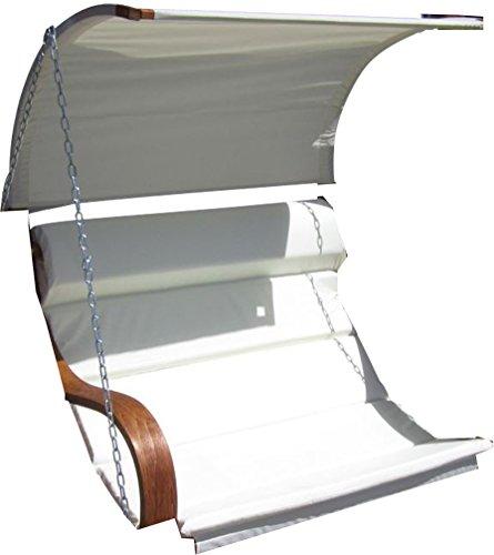 ASS Ersatz Stoffpolster und Dachstoff für Hollywoodschaukel SEAT-MERU (NUR SESSELSTOFF ohne Holzteile) von