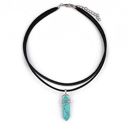Kercisbeauty Black Wrap Velvet Choker with Green Gemstones Healing Stones Women Girls Everyday Boho Necklace Gift Her Jewelry Hippie Crystal