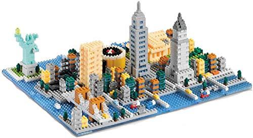 NXNX Mini Arquitectura Mini World New York/London City Street Block Set 3D City Paisaje Building Brick Juguete para Niños,New York