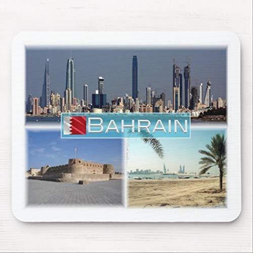 Mauspad für Computer mit rutschfester Gummibasis Bh Bahrain Manama Beach in Muharraq Mousepad für Laptop-PC
