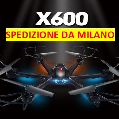 RC ESACOTTERO - DRONE MJX X600 FPV con telecamera Wifi Iphone Android HD TEMPO REALE + HEADLESS + ONE KEY RETURN