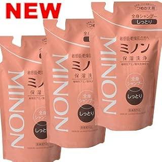 【3個】 ミノン 薬用全身シャンプー しっとりタイプ つめかえ用 380mlx3個 (4987107615930)