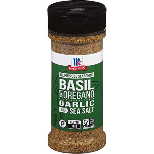 McCormick Basil and Oregano, Garlic and Sea Salt All Purpose Seasoning, 3.25 oz