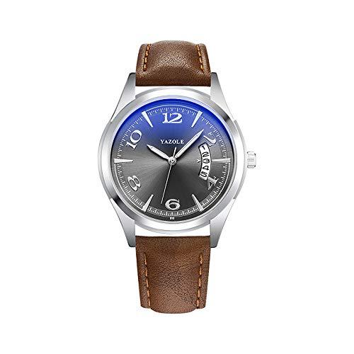 Hombre Reloj de Vestir Cuarzo Elegante Casual Reloj Casual Analógico Blanco + Dorado Negro Azul/Un año/Cuero