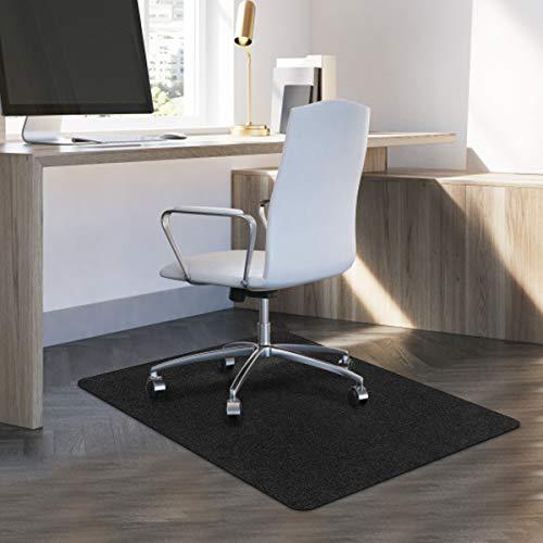 "Office Chair Mat, Upgraded Hard-Floor Mat for Carpets, Freely Cutting 47""x35"" Chair Mat Floor Protector Desk Mat Multi-Purpose for Home, Hardwood Floors (Light Gray)"