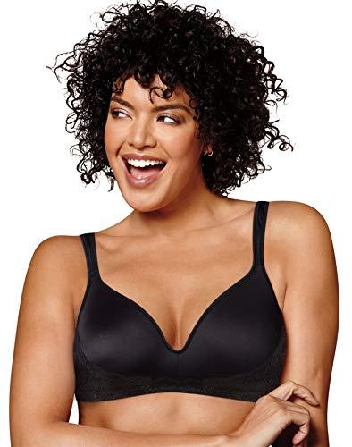 Playtex Womens Love My Curves Side Smoothing Wirefree Bra (US0002) -Black -40DDD