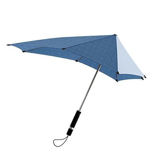 Le Monde du Parapluie Senz Origineel Storm-Proof Rietparaplu, 79cm, Blauw/Denim