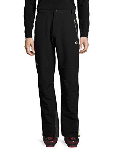 Ultrasport Basic Pantalones de montaña/deportes de invierno para hombre Rex, softshell, pantalones funcionales para hombre, sobrepantalones de invierno, p. ej. para el esquí de fondo, Negro, M