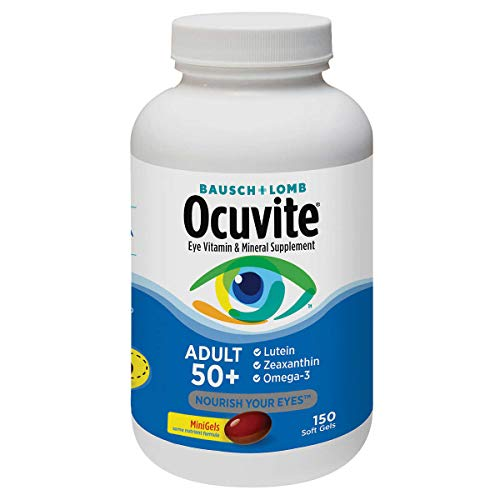 Ocuvite Adult 50+ Vitamin & Mineral Supplement with Lutein,...