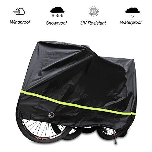 SICOOO Telo Copribici Bicicletta,Telo Bici Copri Biciclette da Esterno per Mountain Bike Road Bike Nevica Polvere Resistente Protezione UV