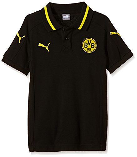 PUMA Kinder Polo Shirt BVB Casuals Without Sponsor, Black, Cyber Yellow, 176