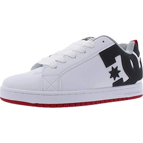 DC Herren Court Graffik Skate Schuh, Weiß (Weiß/Grau/Rot), 43 EU