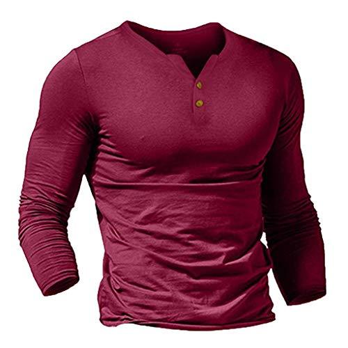 GJKK Herren Sweatshirt Pullover Mode Einfarbig Langarmshirt Slim Fit Fitnessshirt Blend Sportshirt Sport Fitness Gym Training Tops