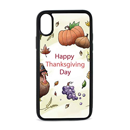 FANTAZIO iPhone X Hoes Thanksgiving Indian Hoed Anti-Scratch Schokabsorptie Cover Case?