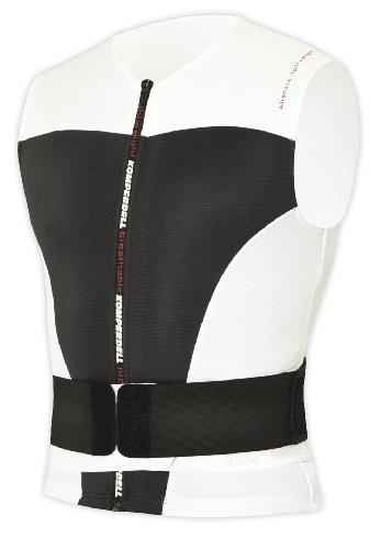 Komperdell Airshock GIlet de protection avec ceinture Blanc/Noir M