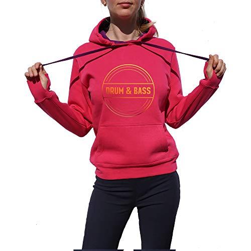 Wild Soul Tees, Pullover Hoodie, Drum and Bass Circle | Série de musique | Graphisme | Logo | Vêtements | Ligne de vêtements - Rose - Small