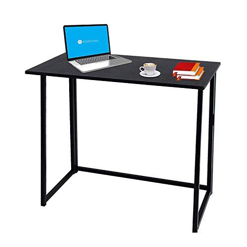 BLADO Compact Folding Computer Desk Home Office Laptop Desktop Table Simple Small Home PC Laptop Table Study Desk (Black)