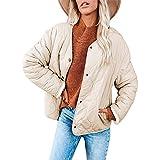 Chaqueta acolchada de diamante de moda para mujer, abrigo cálido, doble desgaste, forro polar, 01 Blanco, XL