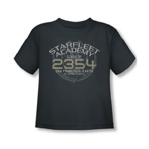 Star Trek - - Tout-petit Graduation Sisko T-shirt En charbon, 2T, Charcoal
