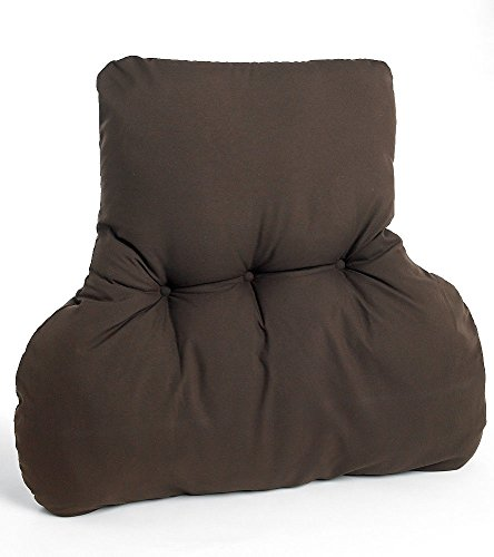 The Bettersleep Company Shaped Lumbar Back Support Cushion (Chocolate) Perfect for chair & sofa offering comfort and support