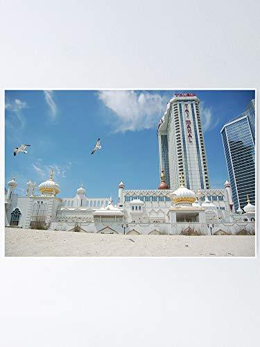 Casino Mahal Atlantic Taj City Donald Trump Nj Hotel, Gift For Home Decor Wall Art Print Poster