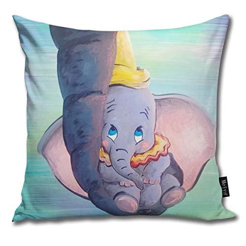 Rasyko Dumbo Being Held By His Mother Trunk Home - Funda de cojín decorativa para el hogar, sofá, cama, coche, 45,7 x 45,7 cm