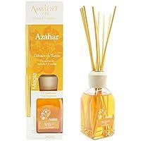 Ambientair Classic. Difusor de varillas perfumadas. Ambientador Mikado aroma Azahar. Difusor 240 ml con palitos de ratán. Ambientador para Hogar sin alcohol para casa.