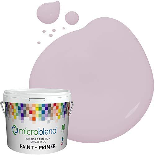 Microblend Exterior Paint and Primer - Mauve/Petite Purple, Sample, Custom Made, Premium Quality, One Coat Hide, Low VOC, Washable, Microblend Violets Family