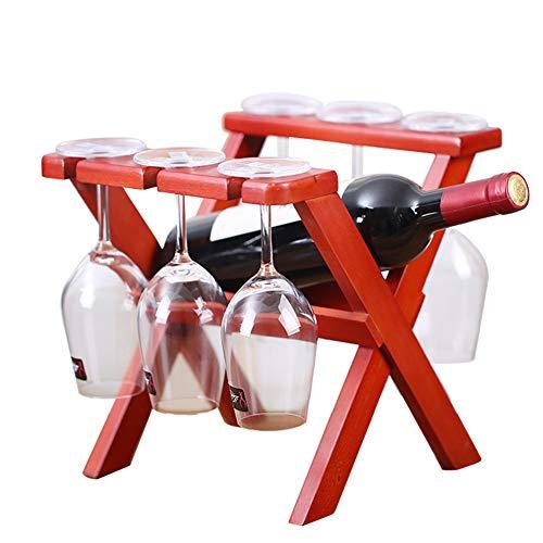 Faltbare Weinflaschen Halter Racks, Holz Weinhalter Lagerung Frei Stehende Dekor Zubehör,X2