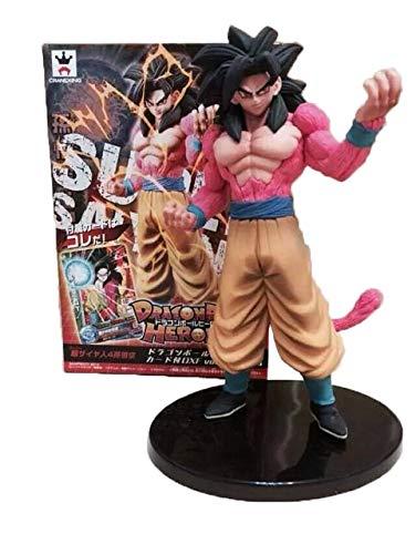 Yvonnezhang Dragon Ball Figura GT Super Saiyan 4 Red Goku Vegeta Dragon Ball Figura de acción Brinquedos Dragon Balls Z Colección Juguete 15-27cm, 0719 con Caja