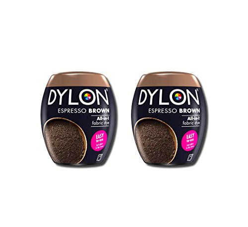 Neue Dylon 350g Espresso Braun Maschinenfarbstoff Aushülsen 2 Pack