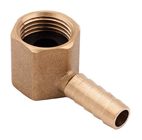 Preisvergleich Produktbild 9 mm 1 / 2 Zoll BSP 90 Grad weiblicher Winkel Messing Schlauchanschluss / Gasarmatur / Teich / Pool / Schlauchadapter