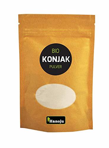 Hanoju Bio Konjak Pulver 300 g, Konjakwurzel, Teufelszunge zum Abnehmen und Appetitzügler, in Deutschland abgefüllt und zertifiziert