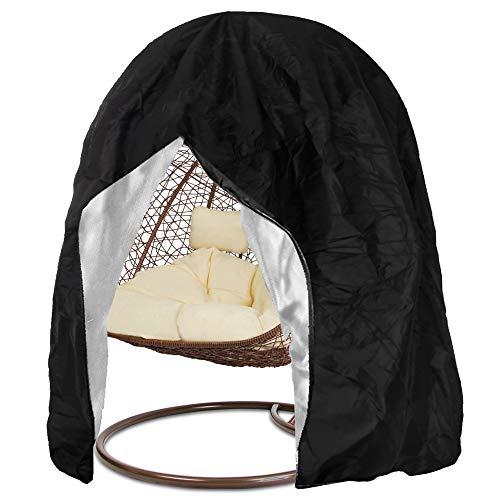 SPRINGOS Schutzhülle für Gartenstühle|Abdeckung|Bezug für Gartensessel| Hängesessel Cocoon|Schwarz|Anti-UV/Anti-Wind/Wasserdicht (Schwarz 230 x 200 cm)