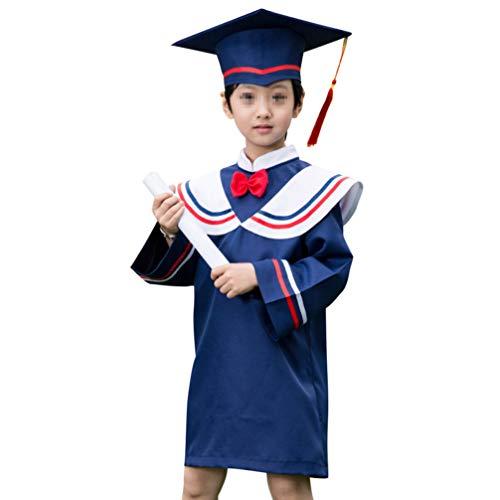 PRETYZOOM Conjunto de Disfraces de Graduación para Niños Uniformes de Graduación Borla Doctoral Cap Diploma de Graduación Accesorios de Fotos para La Graduación de Fiesta (Altura Adecuada 120 Cm)