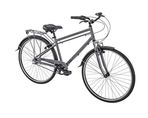 "700c Royce Union RMX Mens 3-Speed Commuter Bike, 17"" Aluminum Frame, Cool Gray"