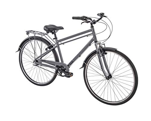 "700c Royce Union RMX Mens 3-Speed Commuter Bike, 17"" Aluminum Frame, Cool Gray"