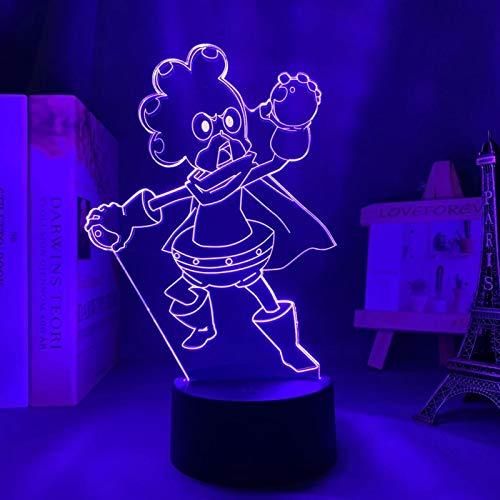 SCNYCUL 3D LED Estudiantes héroes tiran uvas16 colors lámpara mesa para niños decoración del hogar cumpleaños regalo Navidad